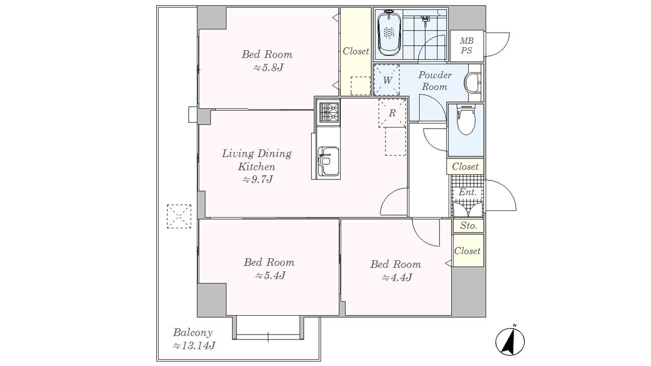 ライオンズマンション浦和常磐公園 502号室