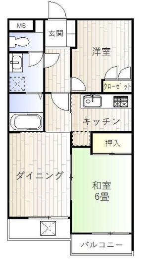 タウンハイツ三鷹203号室