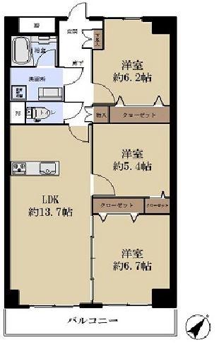 市川セントラルハイツ301号室