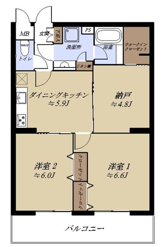 三田南常盤台コーポ406号室