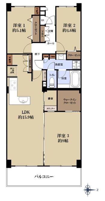サンシティH棟1502号室